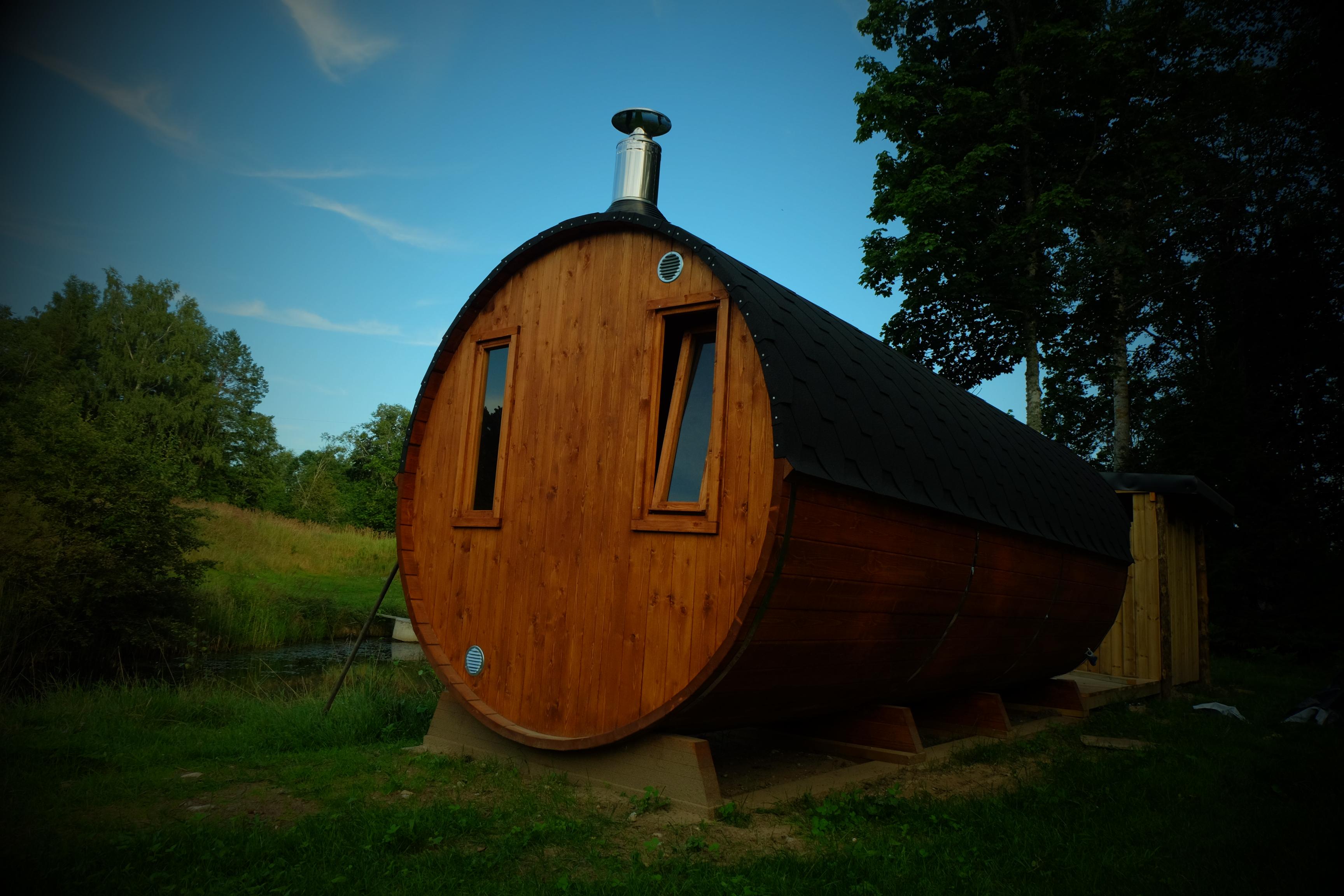 Tiigi saun suvel www.kallastetalu.ee majutus Harjumaal vaid 45 km Tallinnast